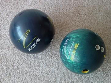 picture of two bowling balls