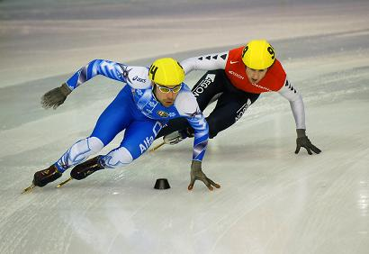 picture of short track speed skaters