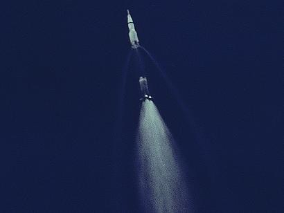 picture of staging for rocket apollo 11