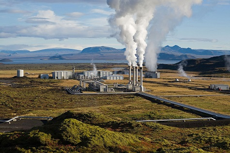 geothermal power generating station picture