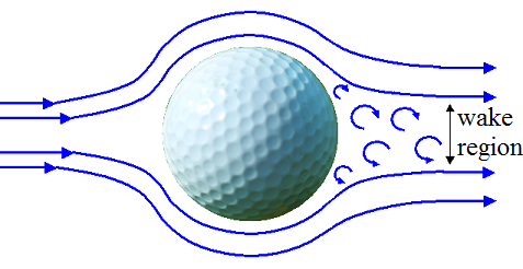 golf ball flying through air