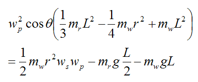 Final equation for gyroscope