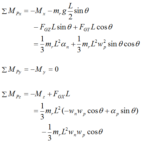 euler equations for gyroscope rod for general motion