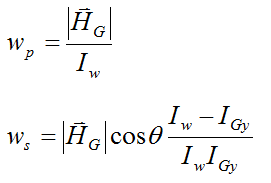 solving for wp and ws for gyroscope wheel in terms of angular momentum HG