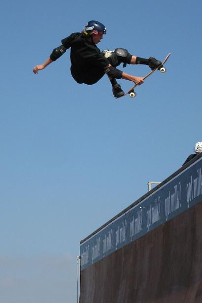 skateboard on half pipe 2
