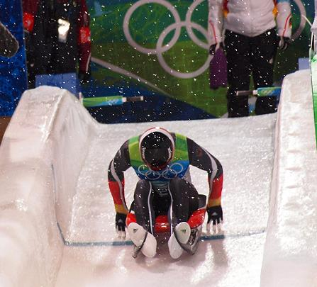 start of luge race
