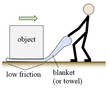 how to move heavy objects with blanket