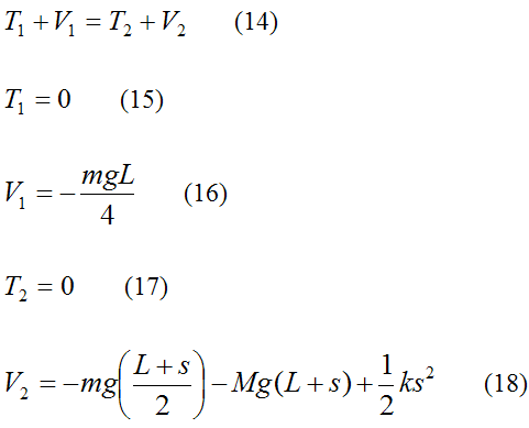 equations for conservation of energy to find maximum falling distance of bungee jumper