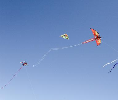 kites with long tails for stability