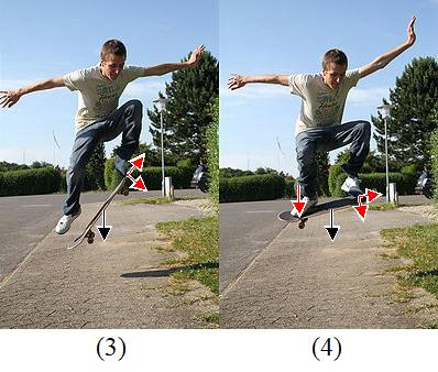forces acting on the skateboard during the ollie 2
