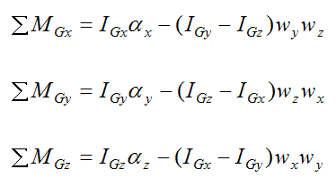 euler equations of motion in principal directions