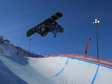 snowboarder on half pipe 2