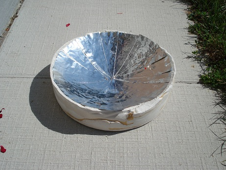 parabolic solar reflector made at home