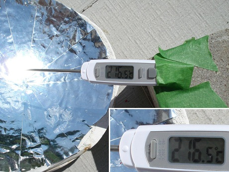 parabolic solar reflector made at home 2
