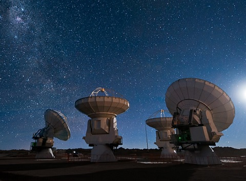 are aliens real radio dishes