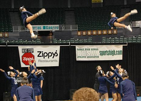 cheerleading picture of throw