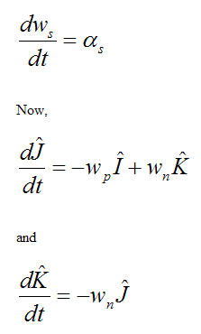 Angular acceleration of ws for gyro top 2