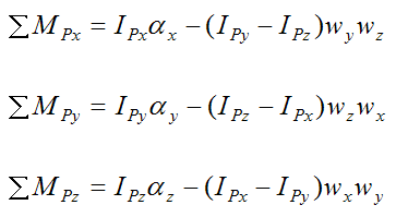 Moment equations for the gyroscope rod