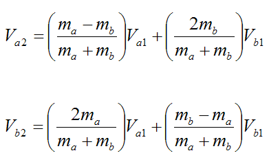 equations for head-on elastic collision