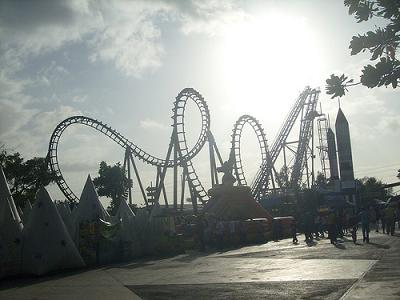 picture of roller coasters
