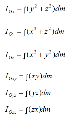 calculating inertia terms for three dimensions 2