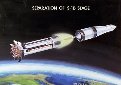 picture of staging for rocket